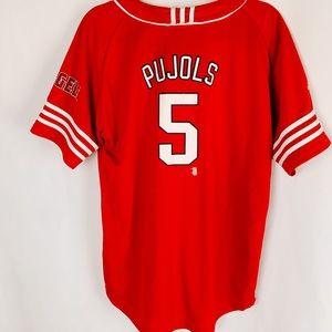 Adidas Angels Baseball Shirt Red Jersey #5 Pujols